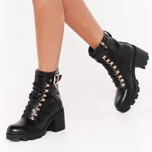 Nasty Gal Leather Booties